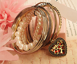 bracelet, fashion, and heart image