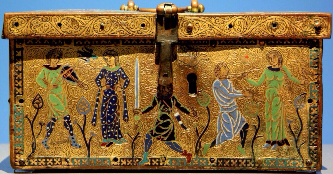 vintage box, medieval art, and coffin box image