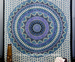 tapestry, hippie, and mandala image
