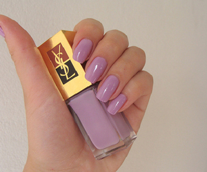 nails, YSL, and purple image