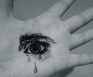 black and white, crying, and emotions image