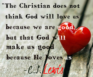 jesus christ, c.s lewis, and christian quotes image