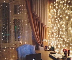 room, lights, and decoration image