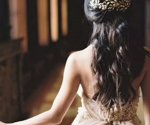 beautiful, hair, and party image