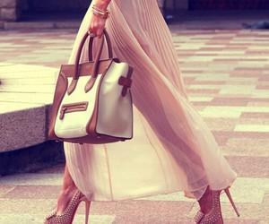 bag, heels, and fashionable image