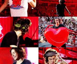 Harry Styles, one direction, and red image