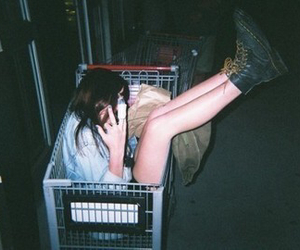 boots, dark, and girl image