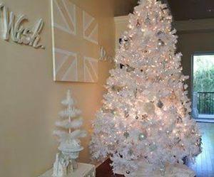 christmas, lights, and white image
