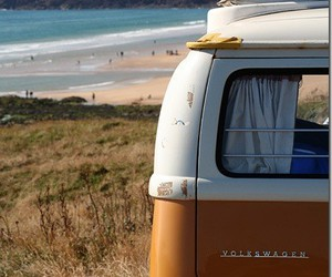 beach, summer, and camping image