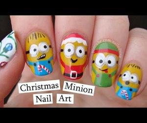 beauty, candy cane, and minions image