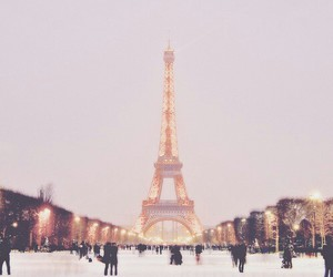 paris, snow, and winter image