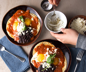 breakfast, eggs, and mexican image
