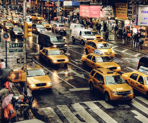 new york, taxi, and nyc image