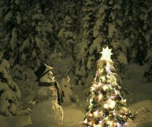 snow, christmas, and snowman image