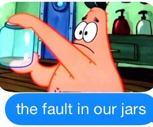 funny, patrick, and the fault in our stars image