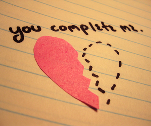 amor, you complete me, and love image