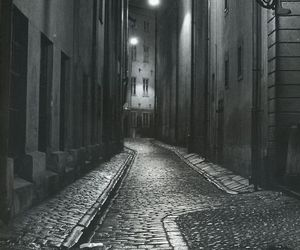 dark, light, and street image