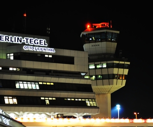 airport, berlin, and lights image