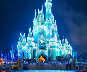 disney, castle, and light image