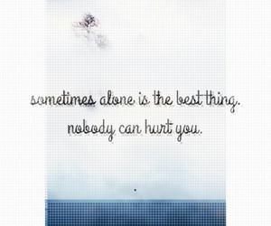 alone, flower, and hurt image