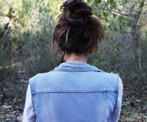 girl, tattoo, and infinity image