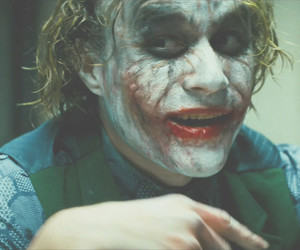 joker, batman, and heath ledger image