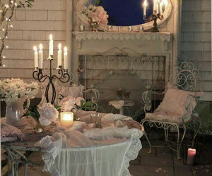 vintage, candles, and decor image