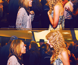 miley cyrus, Taylor Swift, and taylor and miley image