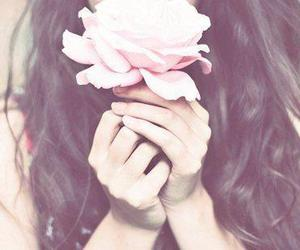 flower, vintage, and girl image