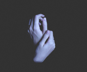 hands, dark, and pale image