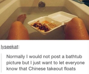 funny, bath, and food image