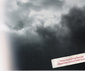 happiness, quote, and clouds image