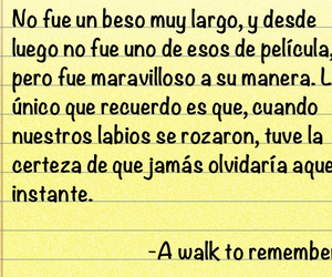 A Walk to Remember, frases, and kiss image