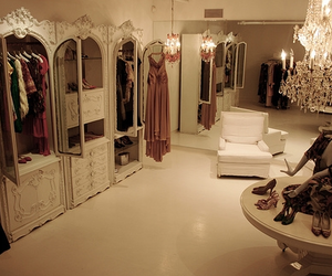 closet, dress, and luxury image