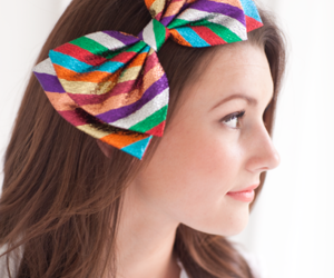 beauty, hair, and bow image
