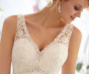 wedding dress, fashion, and bridal gowns image