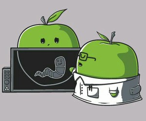 apple, doctor, and funny image