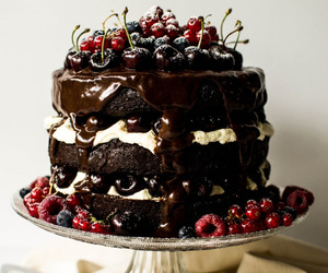 black forest, cake, and chocolate image