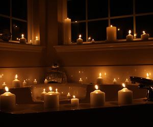 candle, bath, and luxury image