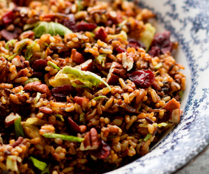 rice, pilaf, and brussels sprout image
