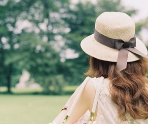 girl, hat, and hair image