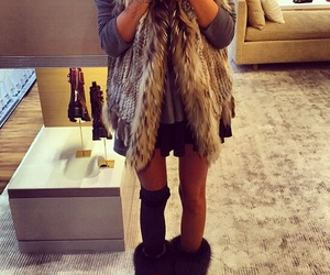 boots, fashion, and fur image