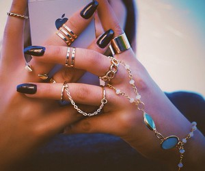 bracelet, hand, and fashion image