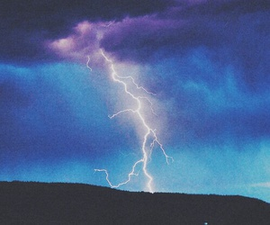 sky, lightning, and blue image