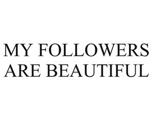 followers and beautiful image