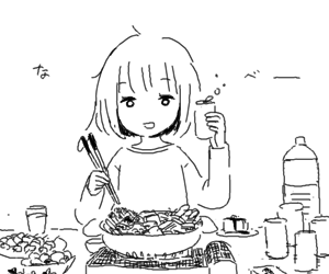 food, anime, and art image