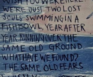 Pink Floyd, wish you were here, and Lyrics image