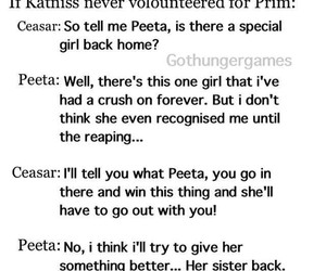 peeta, prim, and hunger games image