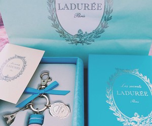 paris, laduree, and blue image