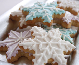blue, food, and winter image